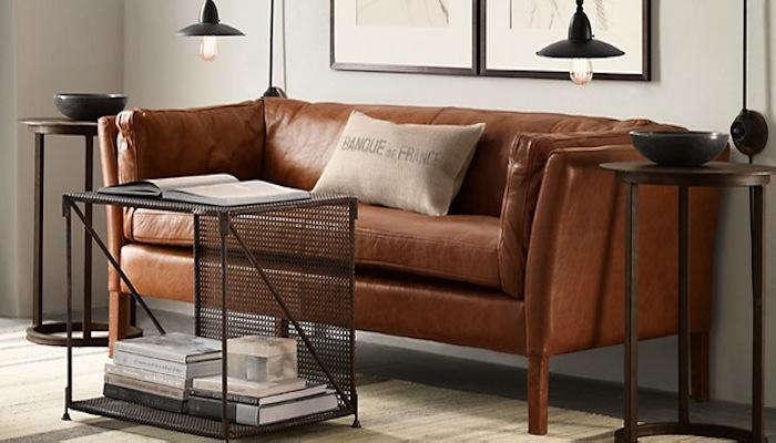 Belgian Shelter Arm Leather Sofas: Remodelista