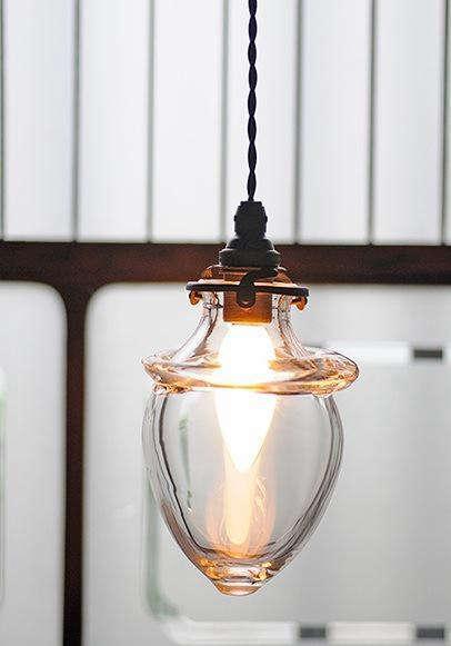Handblown Glass Lamp