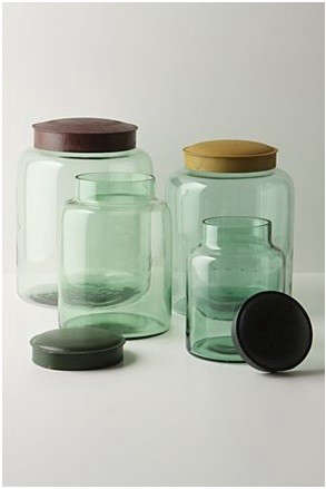 anthropologie-cannisters-green-and-clear
