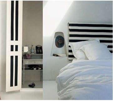black-and-white-striped-headboard