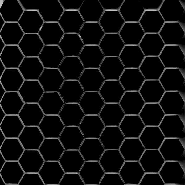 black-hex-tile