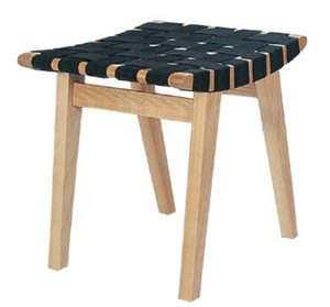 black-jens-risom-stool