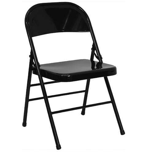 metal chairs color black retailer folding chairs 4 less brand hercules