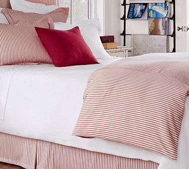 Classic Ticking Stripe Duvet Cover Sham, Black Ticking Stripe Bedding