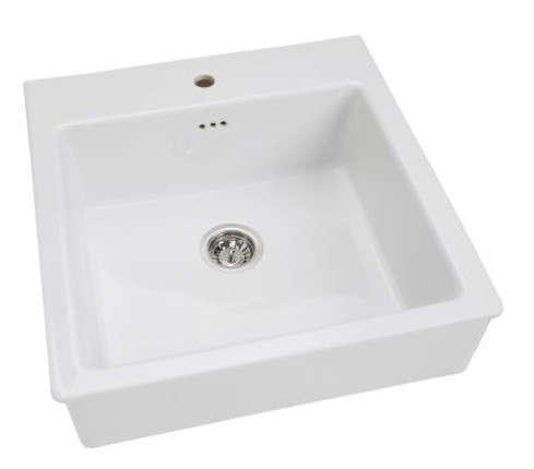 Domsjo sink bowl remodelista for Ikea kitchen sink domsjo