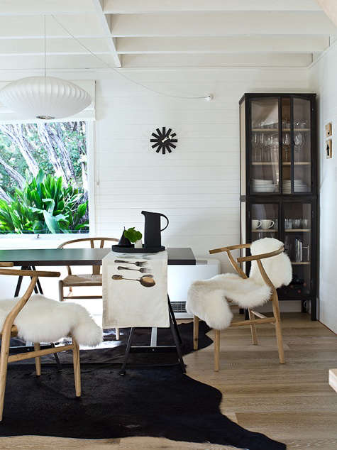 Steal This Look Black And White Scandinavian Dining Room