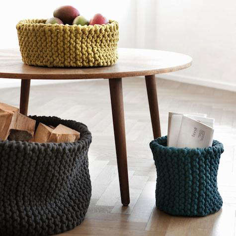 Letter Knitting Patterns : Knitted Basket: Remodelista
