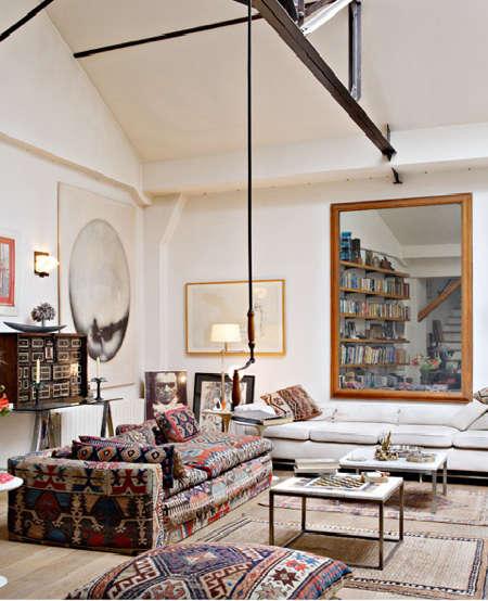 Modern Living Room San Francisco Best Interior Design 12: Furniture: French Kilim Upholstery: Remodelista