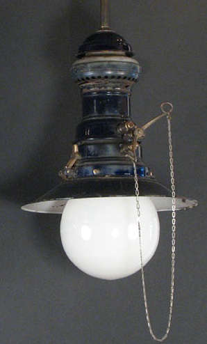 Cobalt Blue Gas Fixture With Antique Shade Remodelista