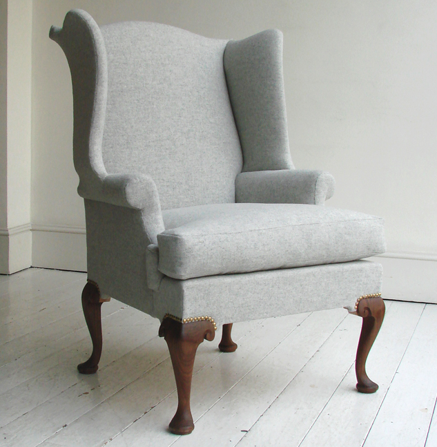 Queen anne wing chair remodelista for Modern queen anne furniture