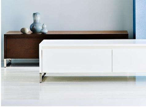 Hudson media console remodelista White media console