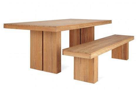 kayu teak dining table  remodelista, Dining tables