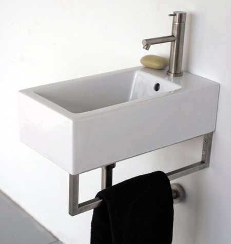 Narrow Wall Mount Sink : 10 Easy Pieces: Wall-Mounted Guest Bath Sinks: Remodelista