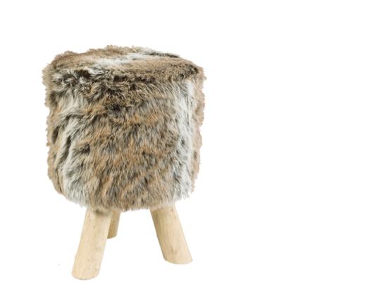Faux Fur Stool Remodelista