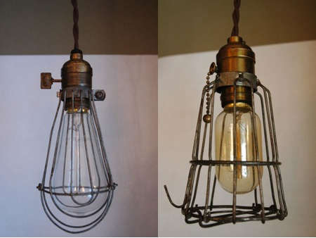 we recently came across this collection of early 20th century cage lights at one of our favorite sources rewire vintage patina comes at a cost cage lighting