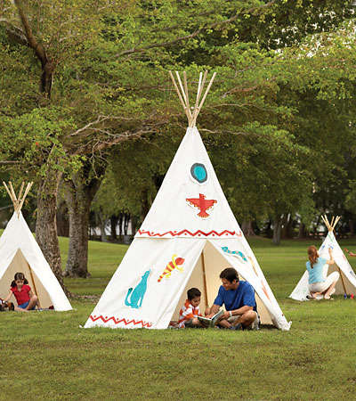 Natural Canvas Kid Teepees Remodelista