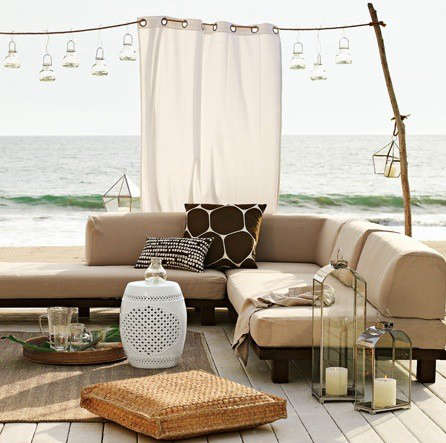 Outdoors Shade Curtain From West Elm Remodelista