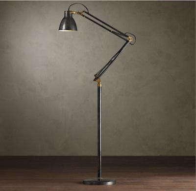 1930s studio task floor lamp remodelista for Task lighting floor lamp