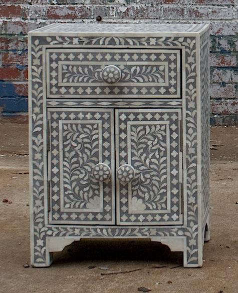 Two Door Inlaid End Table Remodelista