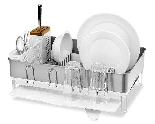 Simplehuman Steel Frame Dish Rack Remodelista