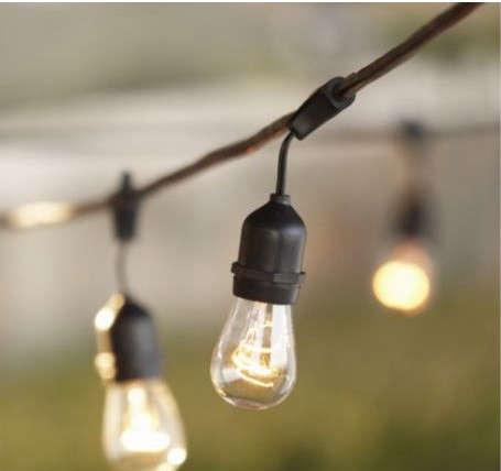 Outdoor String Lights Smith Hawken : Lighting: Architectural Light String at Smith & Hawken: Remodelista