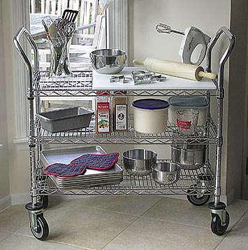 Heavy Duty Stainless Craft Wire Utility Cart - Remodelista