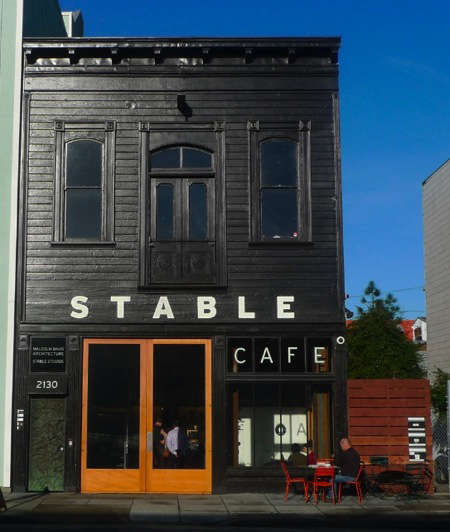 Architect visit stable caf by malcolm davis remodelista for Cafe exterior design