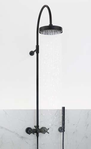 Dornbracht S Tara Black Edition Wall Mounted Shower Mixer