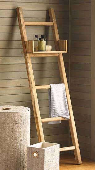 teak-ladder-with-shelf
