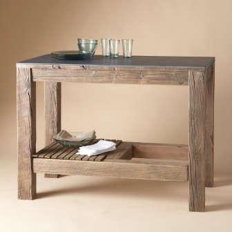 furniture: rustic kitchen island from sundance: remodelista
