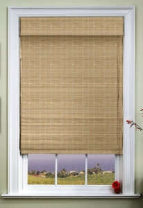 Standard Woven Wood Shade in the Wind pattern at the Shade Store