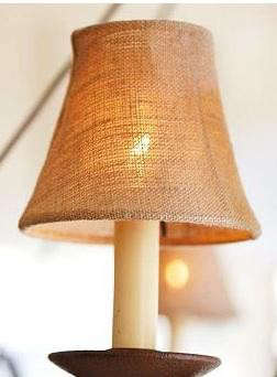 burlap-chandelier-shade