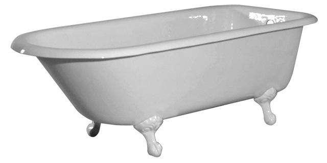 10 easy pieces classic freestanding bathtubs remodelista for Porcelain clawfoot bathtub