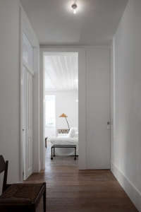 White-painted hallways in Portugal
