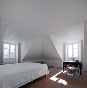 A bedroom in the attic