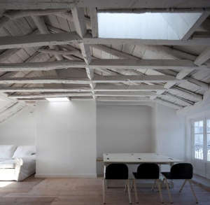 The upstairs attic loft space