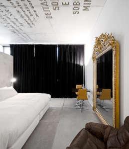 Casa do Conto, Porto hotel, Oporto, Portugal, words in concrete