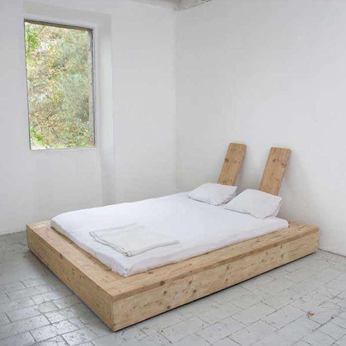 a diy bed made from reclaimed wood remodelista. Black Bedroom Furniture Sets. Home Design Ideas