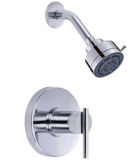 above san francisco architect christi affordable fixture choice is the danze parma shower faucet in chrome which includes a shower
