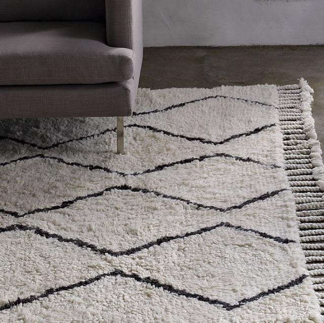 West Elm Souk Wool Rug Reviews: High/Low Beni Ouarain Moroccan Rugs: Remodelista