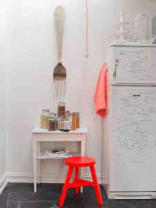 Silje Aune Eriksen's white kitchen with fluorescent accents