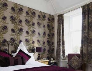 Timorous Beasties, Grand Thistle Wallpaper, thistle decor