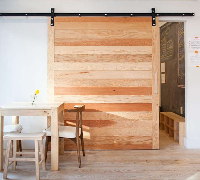 Architectural elements sliding barn doors remodelista for Oversized barn doors