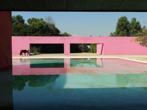 Caudra San Christobál stables, Luis Barragan, pink, water, light