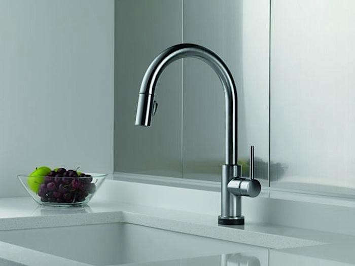 a style worthy touch sensitive faucet remodelista 9159t dst delta trinsic series touch control kitchen