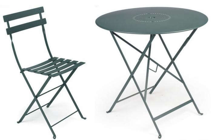 10 easy pieces outdoor bistro tables for two with chairs for Fermob bistro table