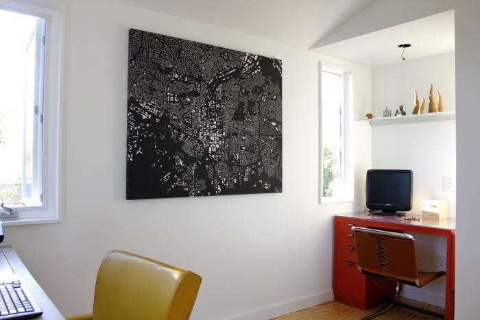 700_office-space-in-modern-house-with-black-map-as-art-and-red-desk-with-red-desk-chair