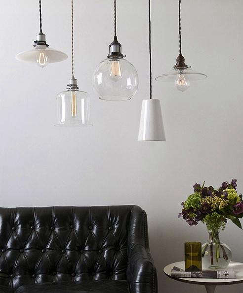 Electric Fixtures: Lighting: New Glass, Opal, And Porcelain Shades From