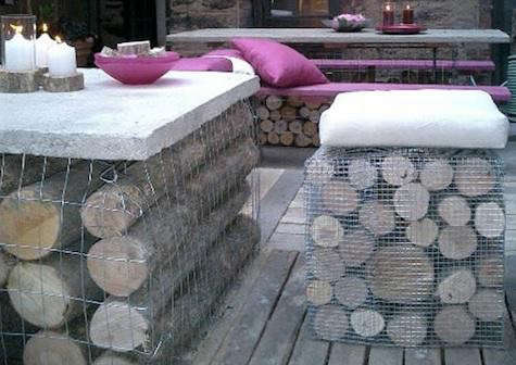 Outdoors Gabion Table And Bench By Rebecca Cole Remodelista
