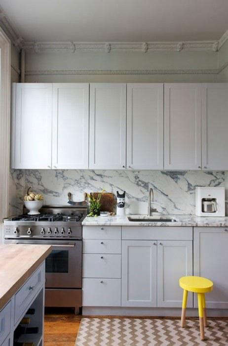 Steal This Look Modern Marble Kitchen In Brooklyn Remodelista